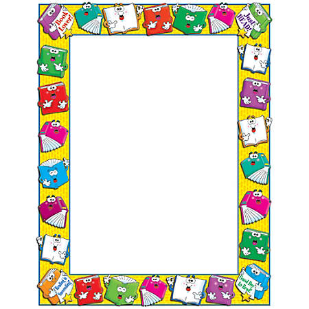 """Scholastic Colorful Design Paper, Reading, 8 1/2"""" x 11"""", Pack Of 50"""