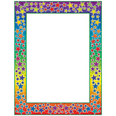Scholastic Colorful Design Paper Rainbow Stars