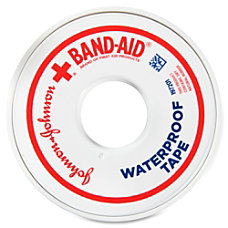 Band Aid Waterproof Tape 1Each White