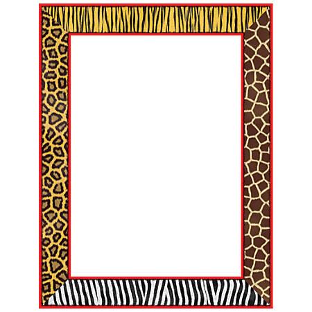 "Scholastic Colorful Design Paper, Safari, 8 1/2"" x 11"", Pack Of 50"