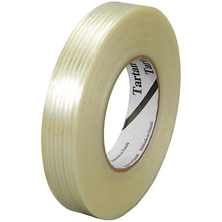 "3M™ 8932 Strapping Tape, 3"" Core, 0.38"" x 60 Yd., Clear, Case Of 12"