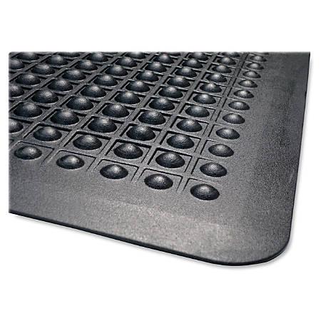Genuine Joe Flex Step 50% Recycled Anti-Fatigue Mat, 2' x 3', Black