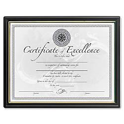 DAX Black Gold Certificate Frames Holds