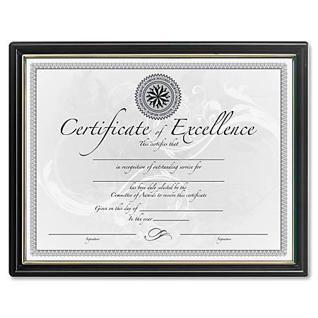 DAX Black Gold Certificate Frames Holds 8.50 x 11 Insert 18 Pack ...
