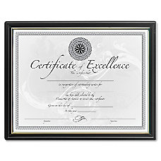 DAX Black Gold Certificate Frames Holds