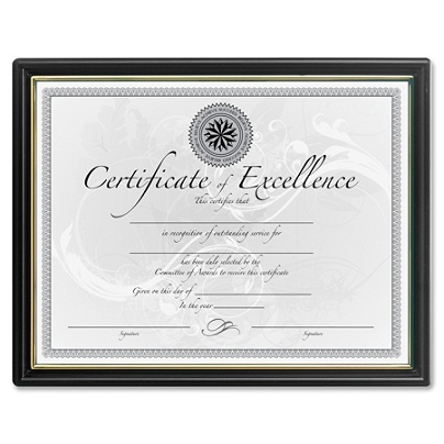 dax certificate frame 8 12 x 11 blackgold by office depot officemax