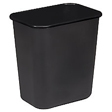 Sparco Rectangular Wastebasket 7 Gallons 15