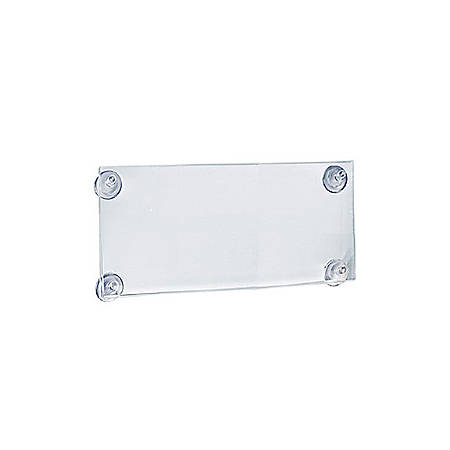 """Azar Displays Vertical/Horizontal Sign Frames With Suction Cups, 5 1/2"""" x 11 1/2"""", Clear, Pack Of 2"""