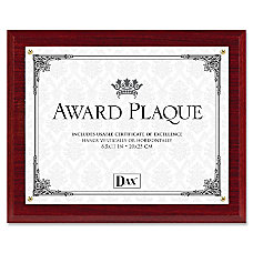 DAX Award Plaque 10 12 x