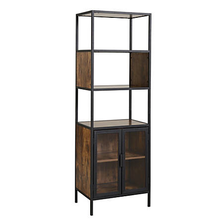 Homestar North America Storage Pantry, 4 Fixed Shelves, FSC® Certified, Brown