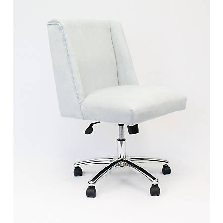 Boss Office Products Decorative Fabric Mid-Back Task Chair, Light Gray/Chrome