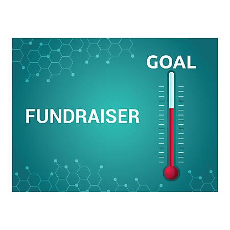 Plastic Sign, Fundraiser Goal, Horizontal