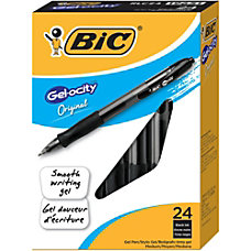 BIC Gelocity Retractable Gel Pens Medium