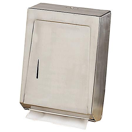 Genuine Joe C-Fold/Multi Towel Cabinet, Stainless Steel