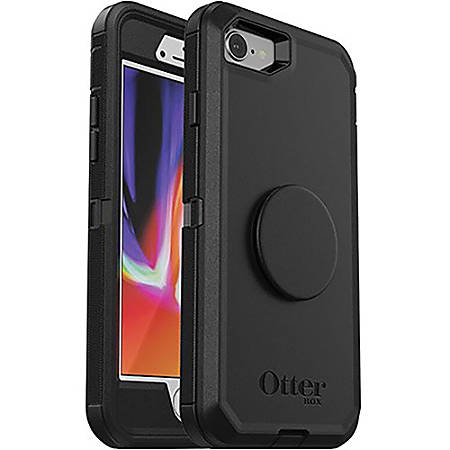 OtterBox Otter + Pop Defender Series for iPhone 8/7 - For Apple iPhone 8, iPhone 7 Smartphone - Black - Drop Resistant, Bump Resistant, Dirt Resistant, Dust Resistant, Lint Resistant