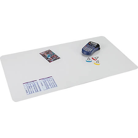 "Artistic Krystal Microban Antimicrobial Desk Pad - Rectangle - 36"" Width x 20"" Depth - Vinyl - Clear"