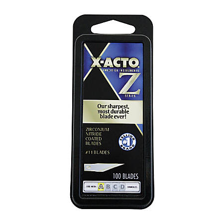 X-Acto #11 Precision Z-Series Replacement Blades, Gold, Pack Of 100