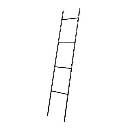 "Honey Can Do Leaning Ladder Rack, 4 Rungs, 69-1/8""H x 15""W, Black"