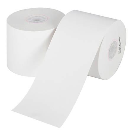 "Office Depot® Brand Single-Ply Paper Rolls, 2 1/4"" x 124', White, Carton Of 100"