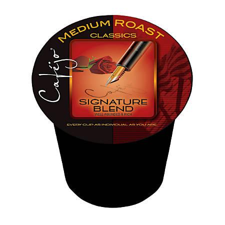 Cafejo® Signature Blend Single Serve Cups, 0.5 Oz., Box Of 24