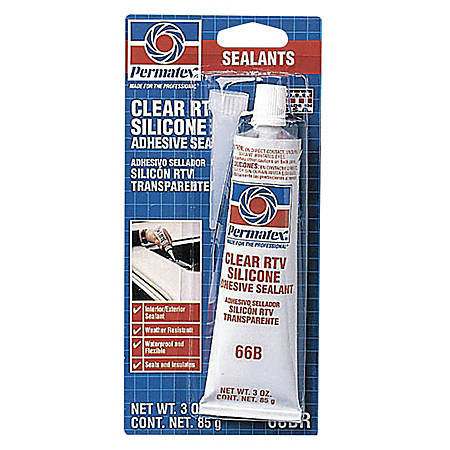 Clear RTV Silicone Adhesive Sealants, 3 oz Tube, Clear