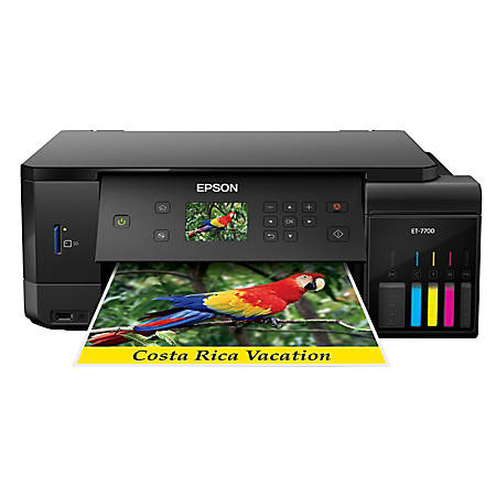Epson® Expression® Premium ET-7700 EcoTank® Wireless Color Inkjet All-In-One Printer, Copier, Scanner, C11CG15201