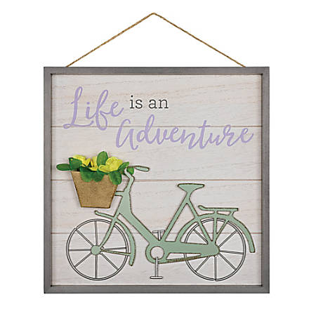 """Amscan Life Is An Adventure Spring Hanging Sign, 11-3/4"""" x 11-3/4"""", Multicolor"""
