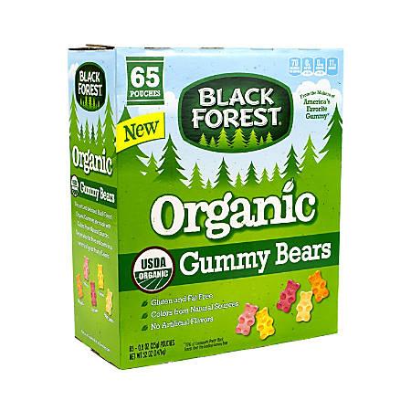 Black Forest Organic Gummy Bears, 0.8 Oz Bag, Box Of 65 Bags