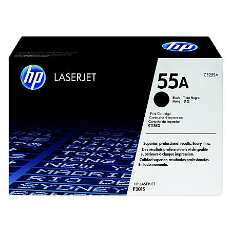 HP 55A, Black Original Toner Cartridge (CE255A)