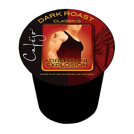 Cafejo® Adrenaline Explosion Single-Serve Cups, 0.37 Oz, Box Of 24
