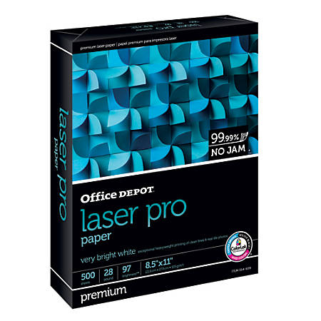 Office Depot® Brand Laser Pro Paper, Letter Paper Size, 28 Lb, Ream Of 500 Sheets