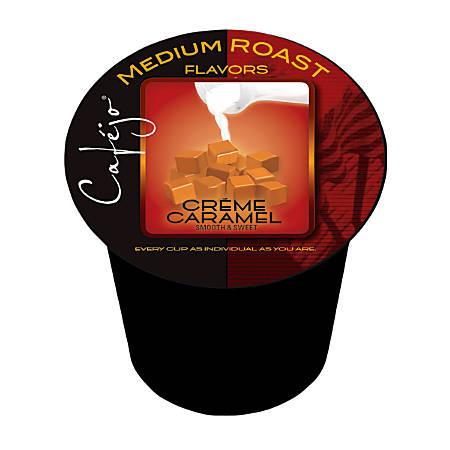 Cafejo® Caramel Creme Single-Serve Cups, 0.37 Oz, Box Of 24