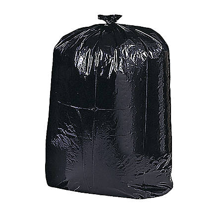"Genuine Joe Contractor Cleanup Trash Bags, 42 Gallons, 33"" x 48"", Black, Box Of 20"