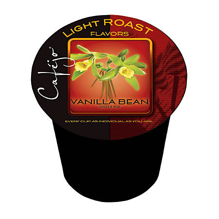 Cafejo® Vanilla Bean Single-Serve Cups, 0.37 Oz, Box Of 24