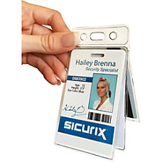 SICURIX Vinyl Two Card Badge Holder