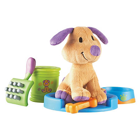 New Sprouts - Pup Play Activity Set - Plush, Rubberized, Plastic