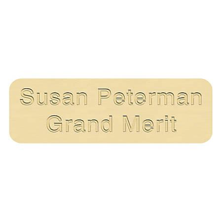 "Custom Brass Engraved ID Plates, 7/8"" x 2-3/4"""