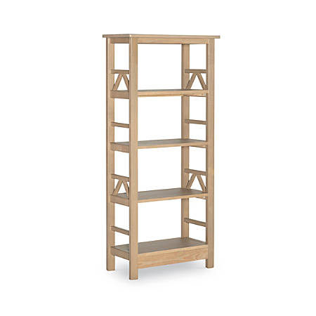 Linon Rockport 4-Shelf Bookcase, Driftwood
