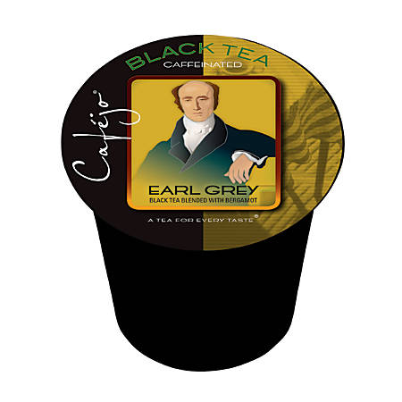 Cafejo Single-Serve Tea Cups, Earl Grey, 0.4 Oz, Pack Of 24