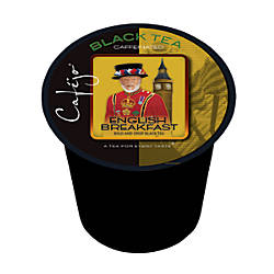 Cafejo Single Serve Tea Cups English