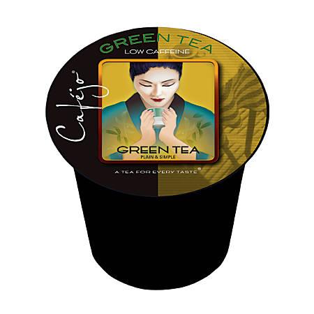 Cafejo Single-Serve Tea Cups, Green Tea, 0.4 Oz, Pack Of 24