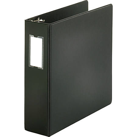 "Sparco Round-Ring Binder, 3"" Rings, Black"