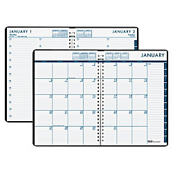 house of doolittle 247 military time wirebound dailymonthly planner