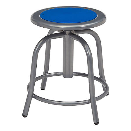 National Public Seating 6800 Steel Designer Swivel Stools, Persian Blue/Gray, Set Of 2 Stools