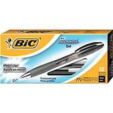 BIC Atlantis Retractable Gel Pens Medium