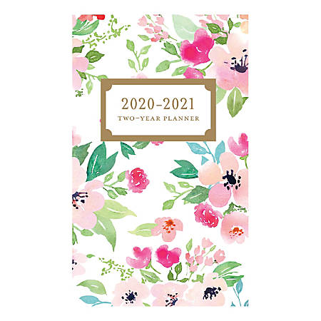 "Graphique de France 2-Year Academic Pocket Planner, 6"" x 3-3/4"", FSC® Certified, Happy Floral"