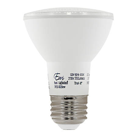 Euri PAR20 LED Bulb, 550 Lumens, 8.5 Watt, 4000 Kelvin/Cool White. Replaces 50 Watt Bulb, 1 Each