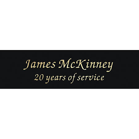 """Engraved Brass Sign Plate, 1"""" x 3 1/2"""""""