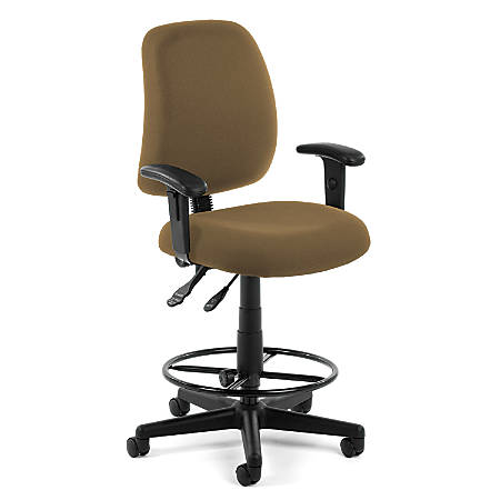 OFM Posture Series Fabric Task Chair With Drafting Kit, Taupe/Black
