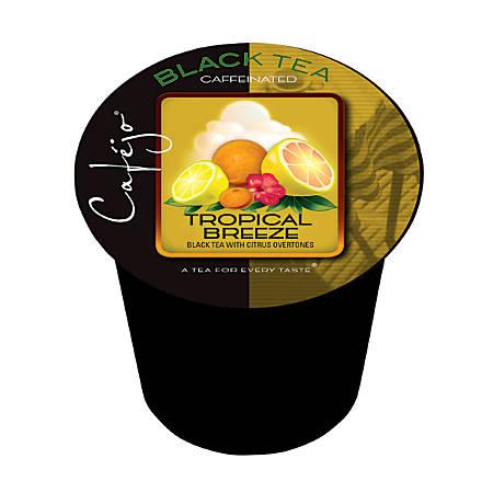 Cafejo Single-Serve Tea Cups, Tropical Breeze, 0.4 Oz, Pack Of 24